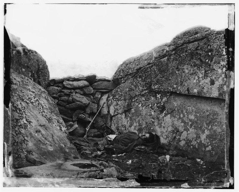 Cuerpo del tirador confederado de 1863