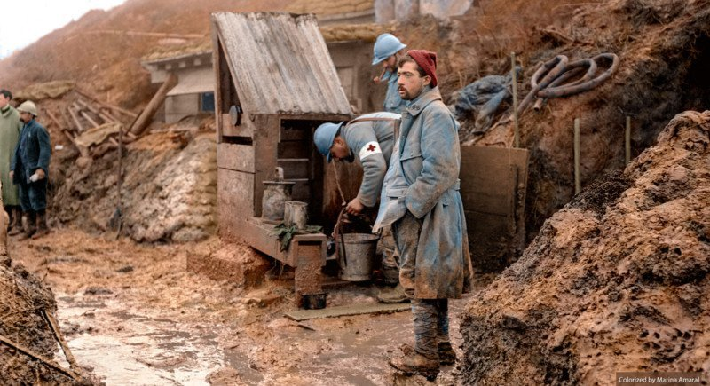 Soldados franceses durante la Primera Guerra Mundial