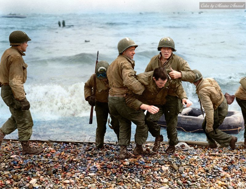 Omaha Beach en color